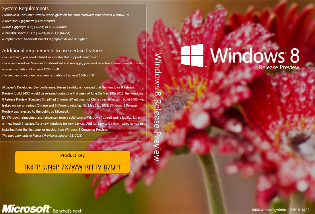 windows 8 release preview product key 32 bit